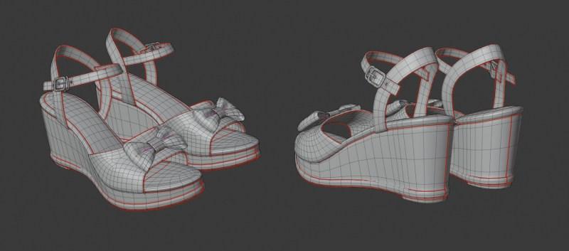 サンダル 3Dモデル(ポリゴン)