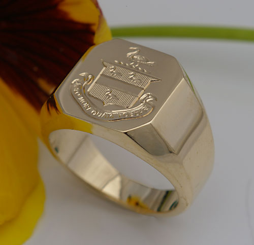 Michael Drechsler Jewelry Ltd Coat Of Arms Gold Signet Ring