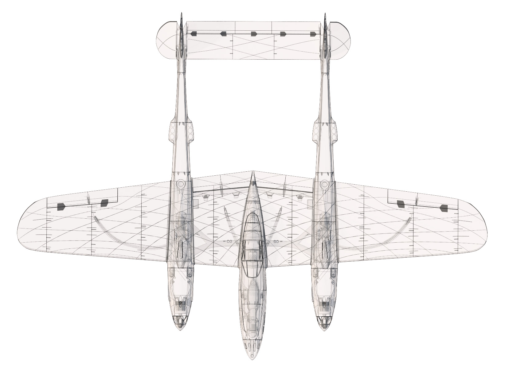 Lockheed P 38 Lightning 3dlabprint
