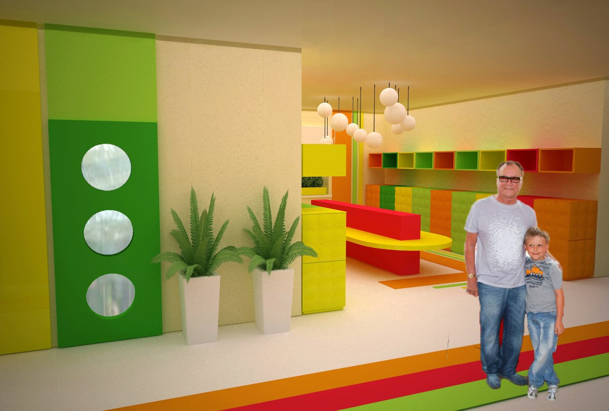 The Interiors Of The Kindergarten Design And Visualization