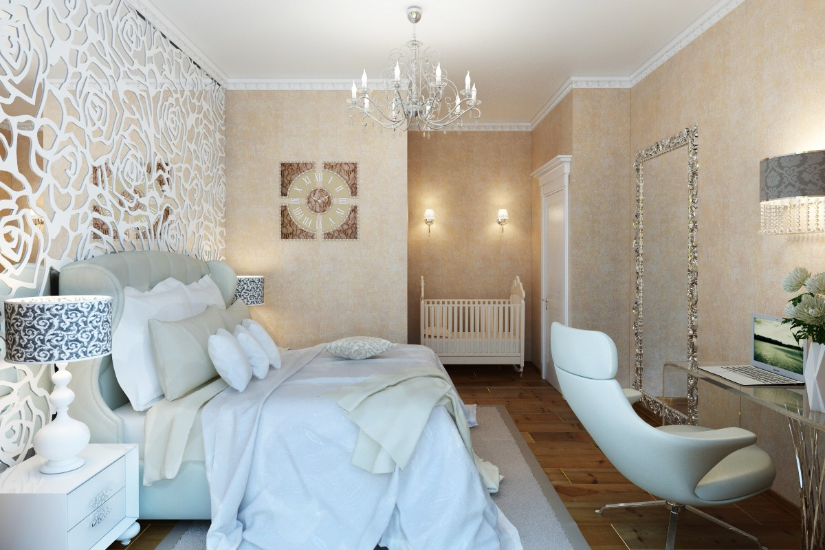 Art Deco Bedroom 3d Visualization And Design Work In 3d