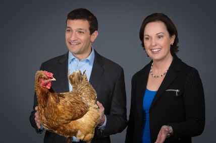 Angie and Paul Co-Leading with Chicken