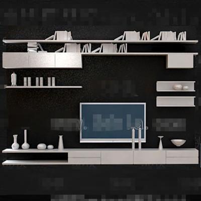White Personality Bookshelf TV Wall 3D Model DownloadFree 3D Models Download