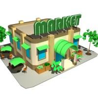 Market 3D Model