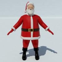 Santa Claus 3D Model - Realtime