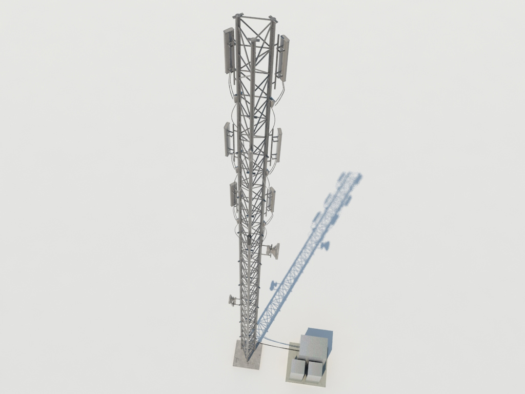 Cellular Telecommunication Tower 3d Model