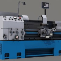 Lathe Turning Machine 3D Model