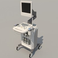 Ultrasound Machine 3D Model - Realtime