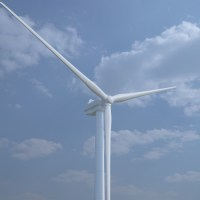 Wind Turbine 3D Model - Realtime