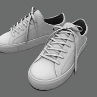 Sneakers White PBR 3D Model