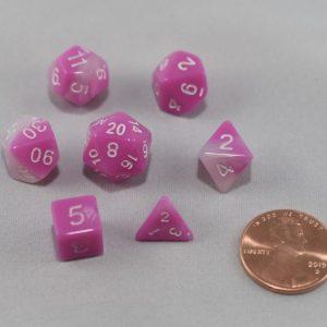 Dice Gemini Mini Pink Blossom Polyhedral Dice Set