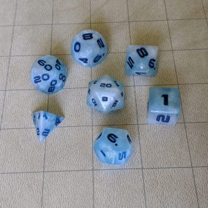 Dice Cloudy Sky Edged Dice Set