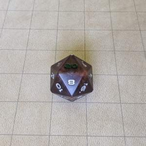 Dice Abyss Purple Jumbo Edged D20