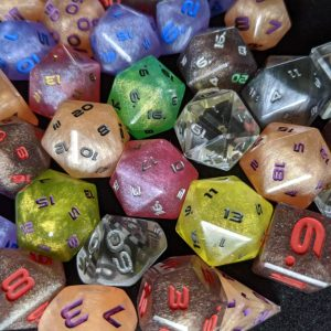Custom Custom Edged Polyhedral Dice Set