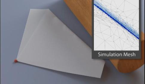 Folding and Crumpling Adaptive Sheets
