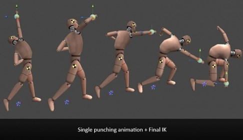 Single Punching Animation + Final IK