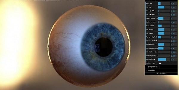 Eye Texture Raytracing Demo