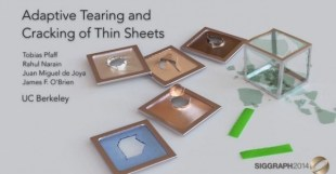 Adaptive Tearing and Cracking of Thin Sheets
