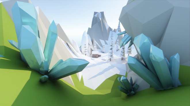 SEGI Beta low-poly-crystals