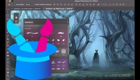 MagicSquire 1.0 - 自動サムネイル生成・色付グループ化・ドラッグアンドドロップ可能なPhotoshop用ブラシ管理/整理アドオン!