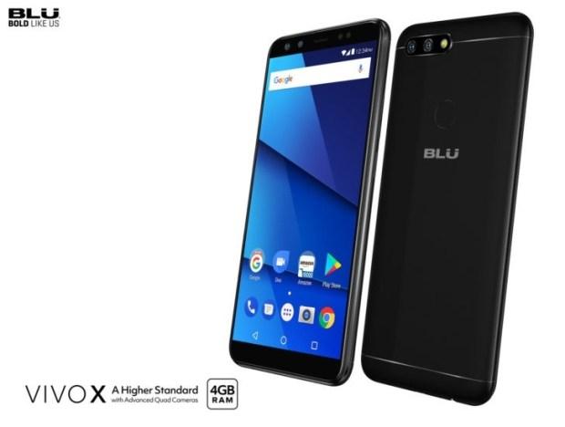 BLU Vivo X с 6-дюймовым дисплеем 18:9 и четырьмя камерами представлен официально