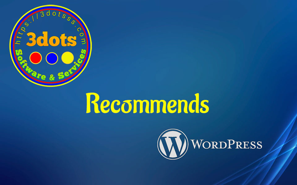 3dots recommends WordPress as its web services.