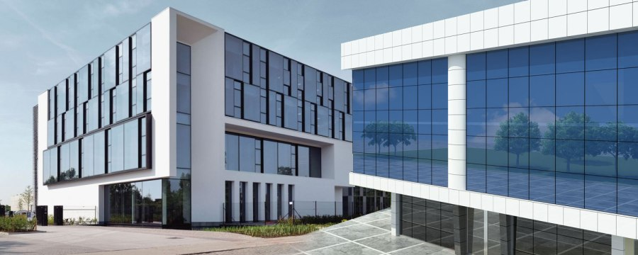 Aluminum composite panel (ACP) facade-3d-power-3d-rendering