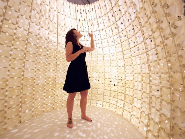 Interior wall, 3D printed using Saltygloo (salt polymer)