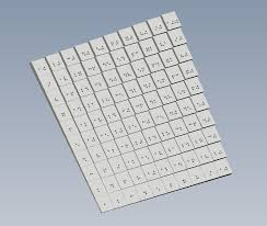3D Printed Multiplication Table