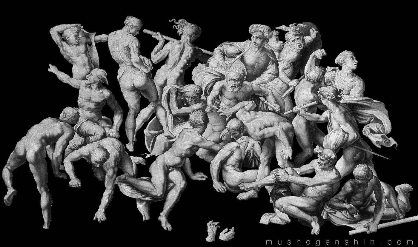 artist named Michelangelo Michelangelo Battle Of Cascina