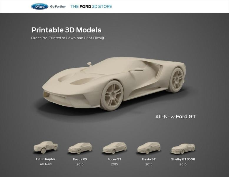 Ford Launches Online 3D Printed Model Car Shop     Print Your Favorite         has informed 3DPrint com that they are taking things to a whole new  level when it comes to 3D printing  No  they aren t 3D printing an entire  car