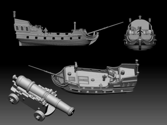 The 3D printable frigate will be a free add-on for Apocalypse Ruins backers.