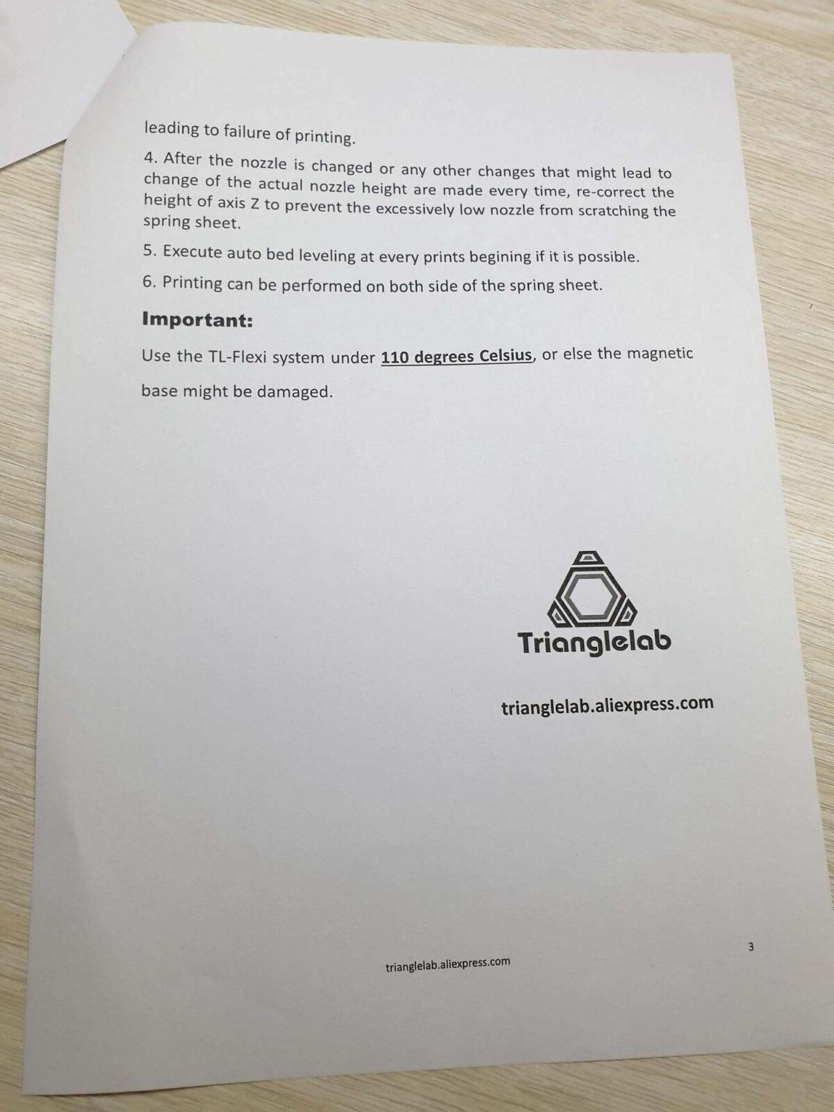 Trianglelab Textured PEI Sheet - Guide