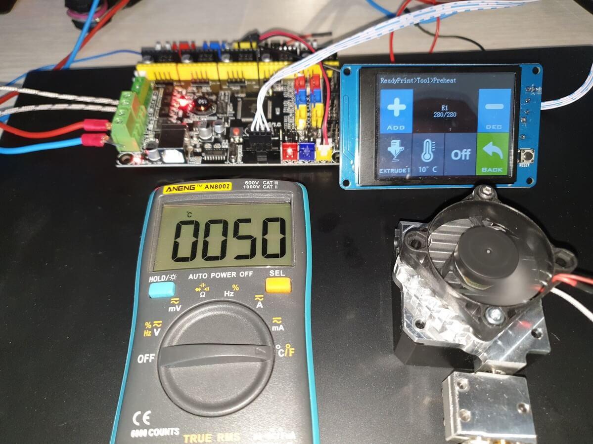 280C Regular Metal Titan Aero 10 minutes 50C