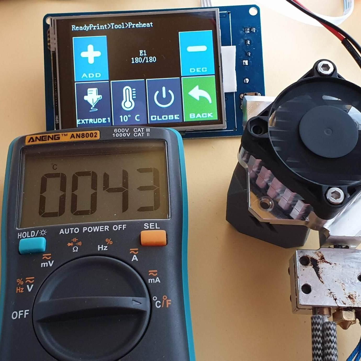 Copperhead heat break review - temperature test