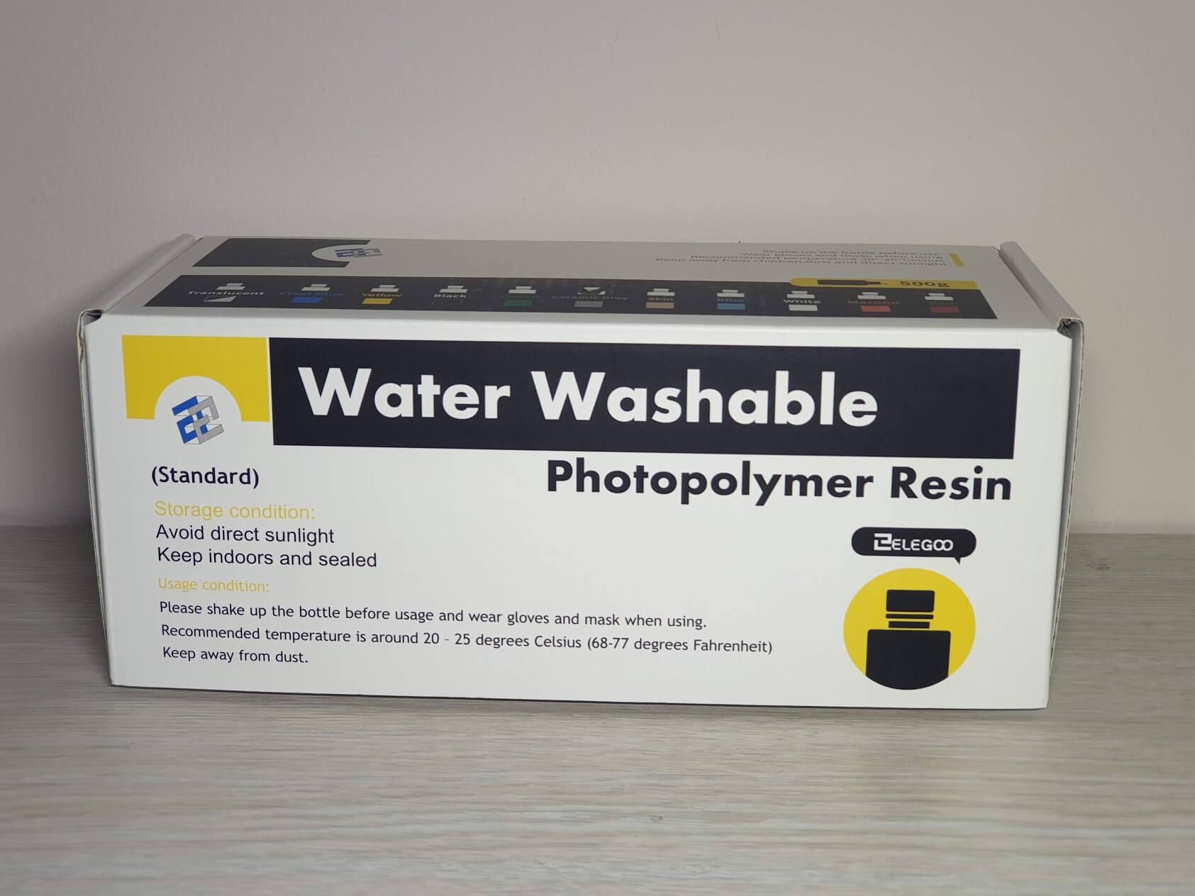 Elegoo Water Washable Resin Packaging 1 | ELEGOO Water Washable Resin Review