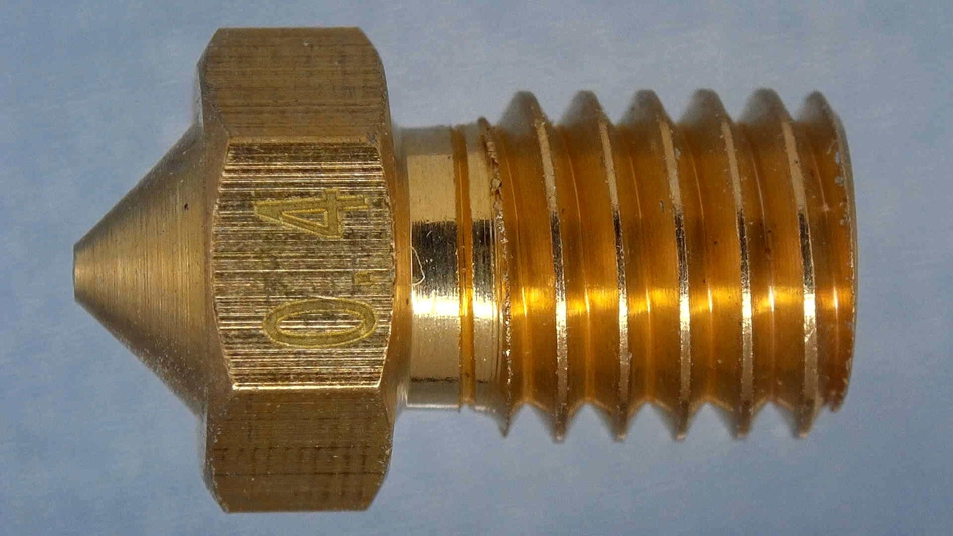 Generic-Cheap-V6-Brass-Nozzle-4-3D Printer Nozzle Comparison