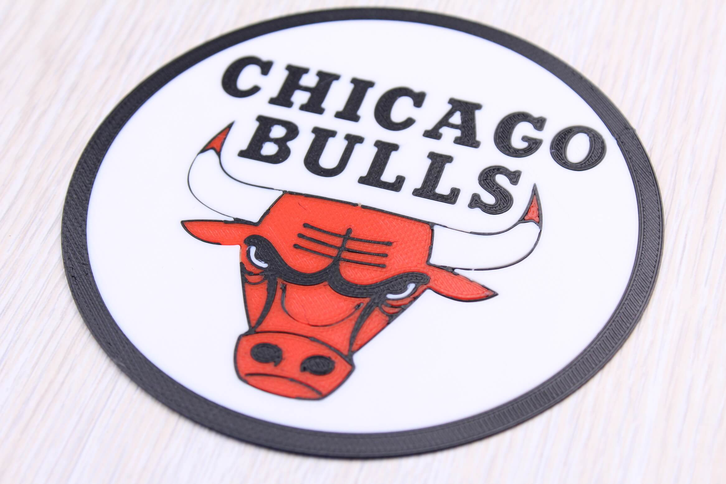 Chicago Bulls sign Multi Color 3D Print 2 | Multi-Color 3D Printing Using IdeaMaker