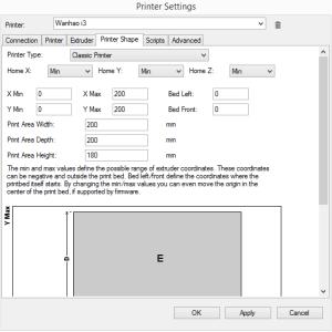 Repetier Printer Shape - PC