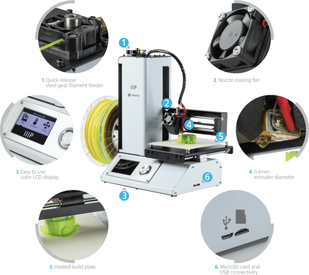Select Mini 3D Printer Features
