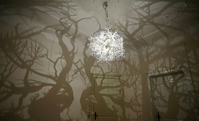 Trick Of Light Transforms Room Into Eerie Forest With 3d
