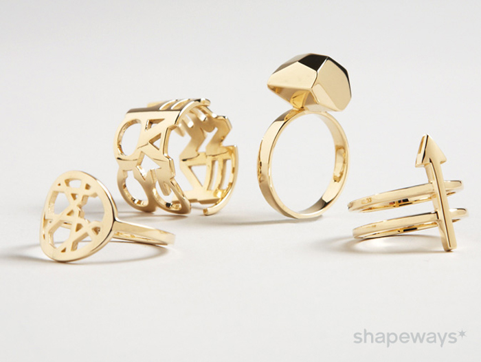 Shapeways Adds 14k Gold To 3D Printed Products 3D