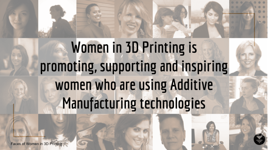 Graphic encompassing a number of Women in 3D Printing contributors to date. Image via Women in 3D Printing