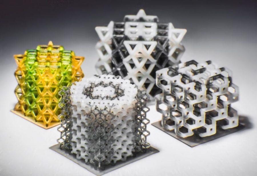 Multi-material 3D printed lattices. Photo byKavin Kowsari/UCONN.
