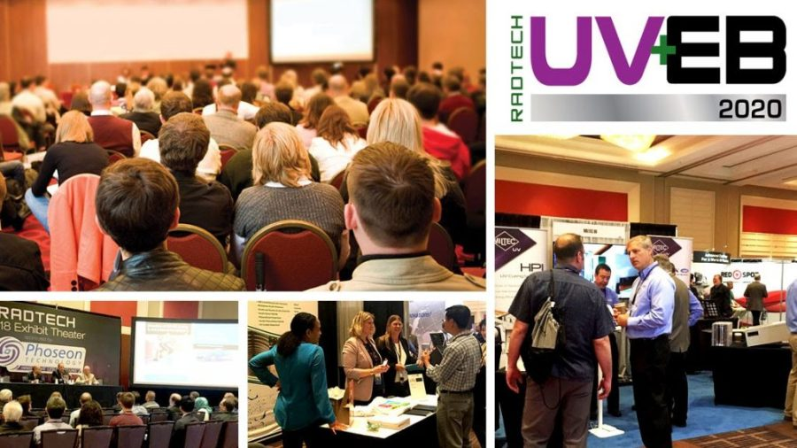 Scenes from previous RadTech UV+EB Technology Conferences. Image via RadTech