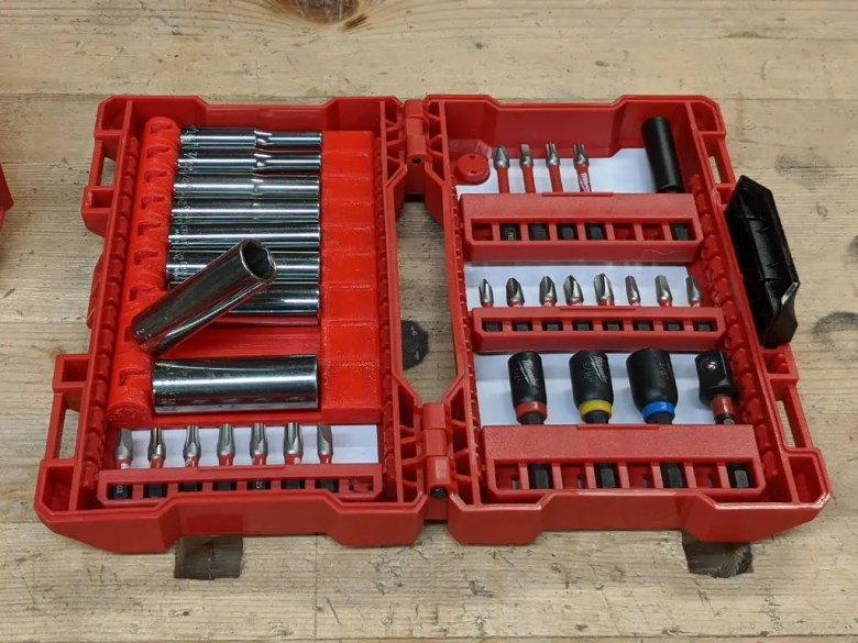 Milwaukee Socket Holders in a case
