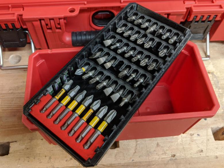 Packout Trays for Dewalt Bit Holders