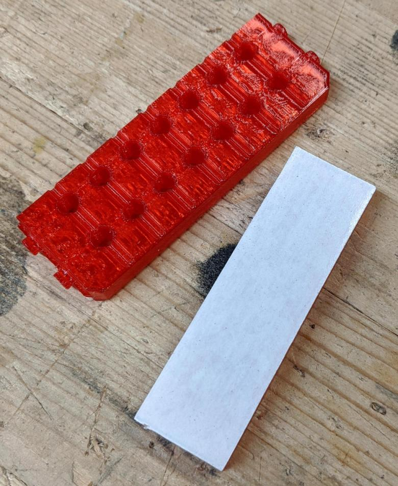 Milwaukee Narrow Bit Holder Adapter Endcap with Carpet Tape