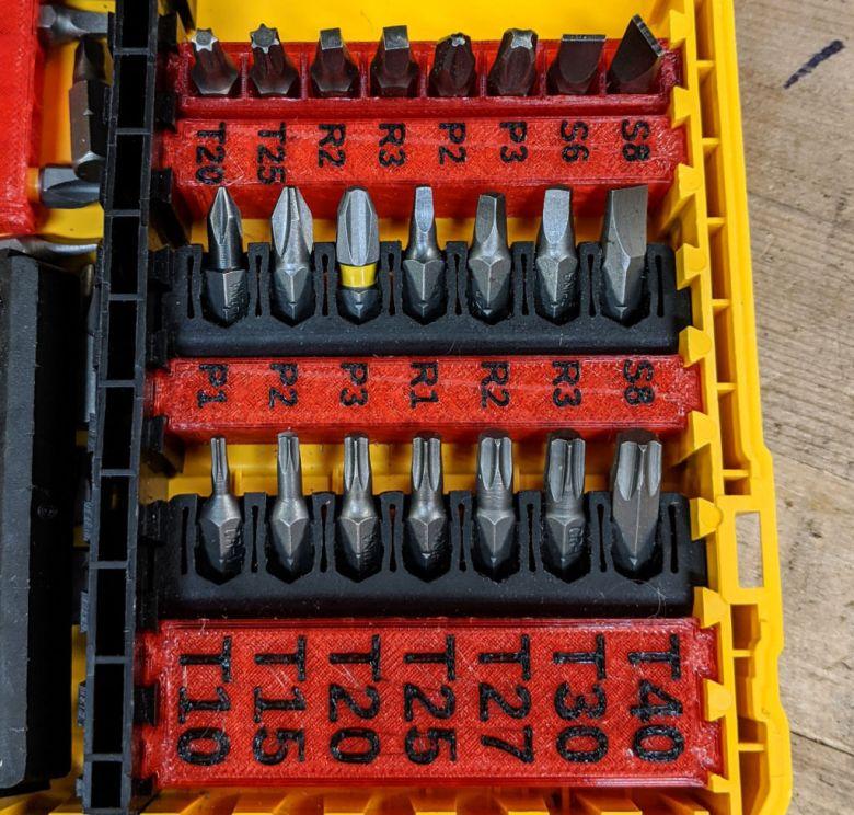 Dewalt ToughCase Small and Large Label Blocks