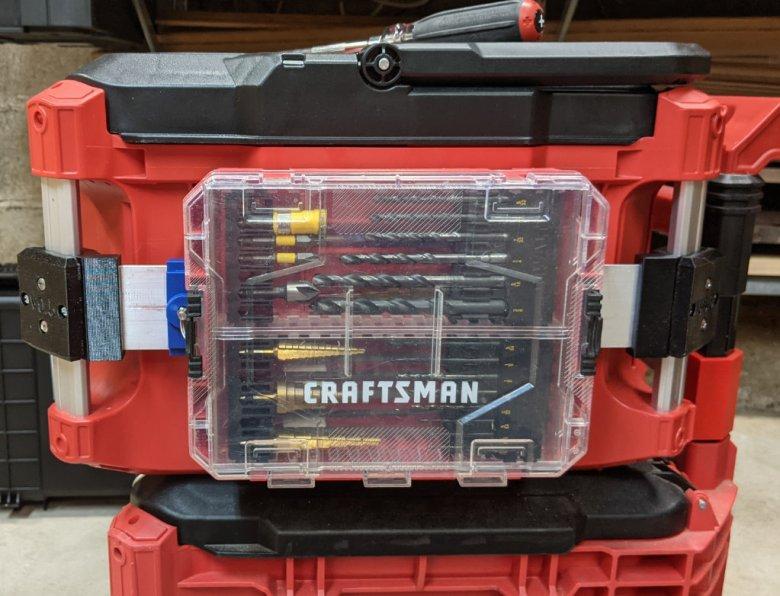 Craftsman Medium Accessory box on Packout rail mount
